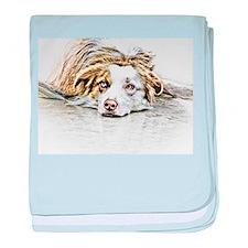 AUSTRALIAN SHEPHERD - DOG baby blanket