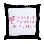 This Chick is Walking For a C Throw Pillow