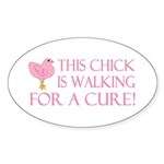 This Chick is Walking For a C Sticker (Oval 10 pk)