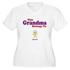 This Grandma Belongs Granddau T-Shirt