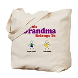 This Grandma Belongs 2 Two Tote Bag