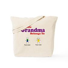 This Grandma Belongs 2 Two Tote Bag