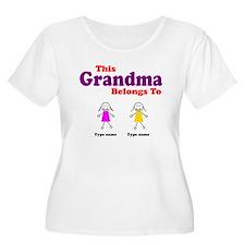 This Grandma Belongs 2 Two T-Shirt