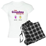 This Grandma Belongs 2 Two pajamas