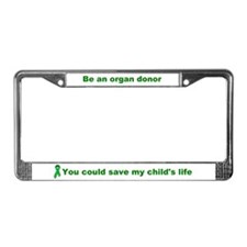 License Plate Frame save my child