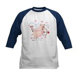 Flying cupid Piggy Valentine's Day Tee