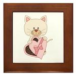 Sweetheart Cat Framed Tile