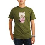 Sweetheart Cat Organic Men's T-Shirt (dark)