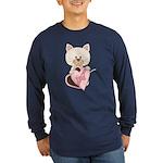 Sweetheart Cat Long Sleeve Dark T-Shirt