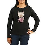 Sweetheart Cat Women's Long Sleeve Dark T-Shirt