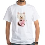 Sweetheart Cat White T-Shirt