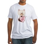 Sweetheart Cat Fitted T-Shirt