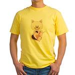 Sweetheart Cat Yellow T-Shirt