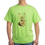 Sweetheart Cat Green T-Shirt