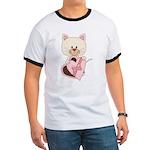 Sweetheart Cat Ringer T