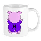 Pisces Cartoon Pig Mug
