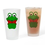 Pisces Cartoon Frog Drinking Glass