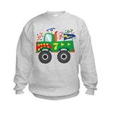 7th Birthday Monster Truck Sweatshirt