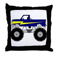 Monster Truck Throw Pillow