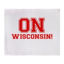 On Wisconsin Throw Blanket