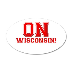 On Wisconsin 38.5 x 24.5 Oval Wall Peel