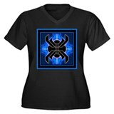 Naumaddic Arts Logo - Blue - Women's Plus Size V-N