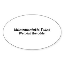 Monoamniotic Twins Oval Decal
