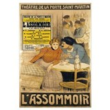 Poster advertising LAssommoir by M.M.W. Busnach