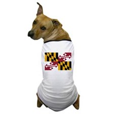 Maryland State Flag Dog T-Shirt
