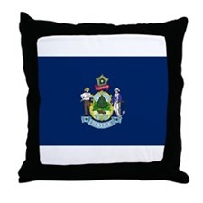 Maine State Flag Throw Pillow