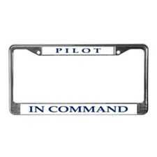 Pilot in Command License Plate Frame