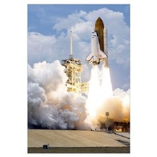 Space Shuttle Atlantis lifts off from its launch p