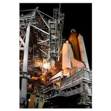 Space Shuttle Endeavour on the launch pad at Kenne