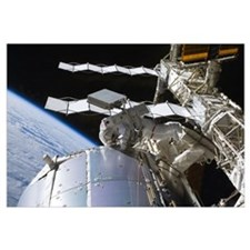 Astronaut working on the International Space Stati