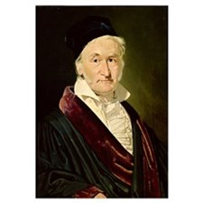 Portrait of Carl Friedrich Gauss, 1840 (oil on can