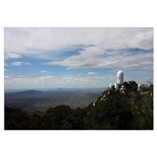 Kitt Peak Observatory domes and surrounding area