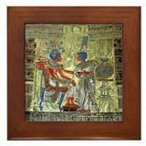 Tutankhamons Throne Framed Tile