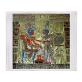 Tutankhamons Throne Throw Blanket
