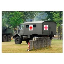 A Unimog in an ambulance version in use by the Bel