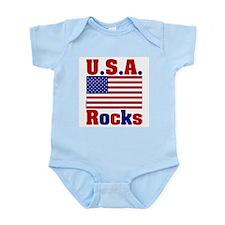 USA Rocks Infant Creeper