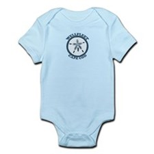 "Wellfleet MA ""Sand Dollar"" Design. Infant Bodysuit"