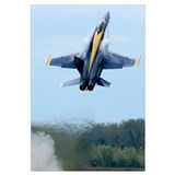 Lead solo pilot of the Blue Angels performs a high
