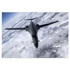 A B1B Lancer flies over the Nevada and Utah region