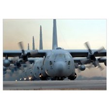 C130 Hercules aircraft taxi out for a mission duri