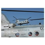 US Marine Corps CH46 Sea Knight helicopters