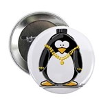 Bling penguin Button