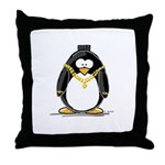 Bling penguin Throw Pillow