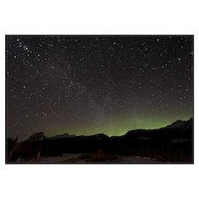 Quadrantid Meteor Shower Milky Way and Aurora