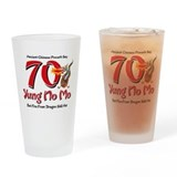 Yung No Mo 70th Birthday Drinking Glass