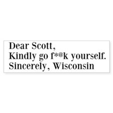 Dear Scott - Bumper Sticker